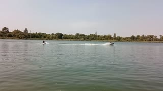First waterboard ride
