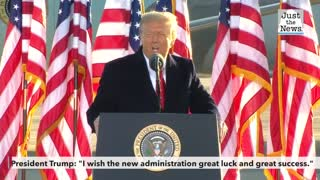 """President Trump: """"I wish the new administration great luck and great success."""""""