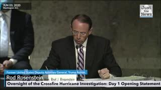 Rod Rosenstein Opening Statement - Testimony on Operation Crossfire Hurricane
