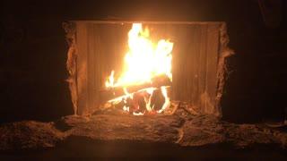 Peaceful fireplace