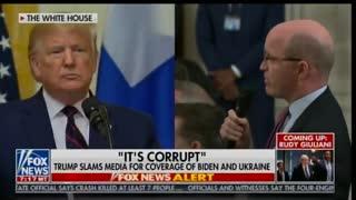 "President Donald Trump explodes on ""journalist"""