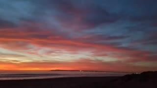 Beautiful sunset at the beach!