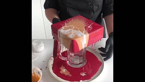 Most Awesome Mirror Glaze Cake Decorating