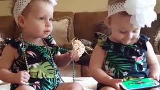 Kids loving sister