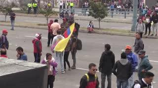 Estado de excepción en Ecuador por protestas