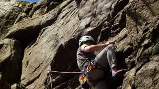 Climbing a very high mountain
