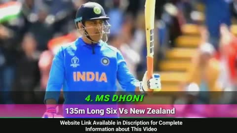 Biggest six in Cricket History