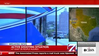 Odessa CBS Anchors Evacuate Set Live Following Shooting
