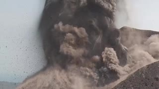 Incredible View of Volcano Eruption