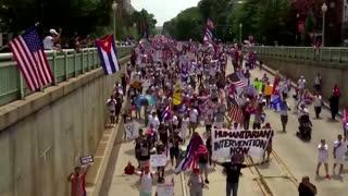 'Libertad' Cuban-Americans support protesters in Cuba