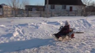 Leaf Blower Powered Turbo Snow Sled