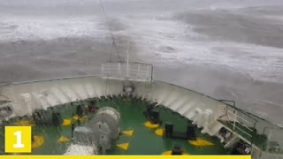 12 SHIPS CAUGHT ON SCARY STORM