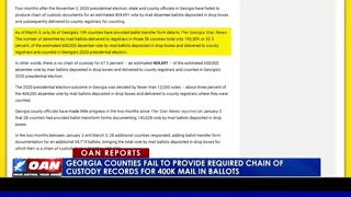 Ga. counties fail to provide required chain of custody records for 400K mail-in ballots