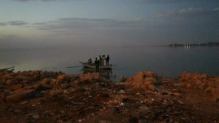 Night Boat Riding At Qaroun Lake Egypt Wonder