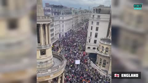 Millions of citizens from all over the world take to the streets to protest against global control.