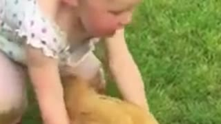 A dangerous animal with a cute girl