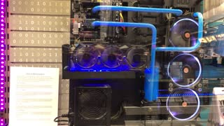 At B&H Store Water cooled CPU Computer Plastic see thru Case (01-2018)