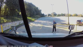 Annoyed Driver Plows Through Gate