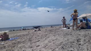 NYPD Helicopter Fly Over in Fort Tilden Rockaway Beach