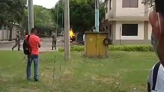 Videos grabaron los angustiosos momentos después de la explosión de un carro bomba en Cúcuta