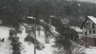 beautiful view of the Carpathian winter mountains