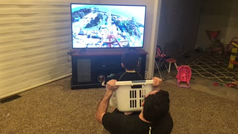 Dad Takes Quarantine Activities to The Next Level With Virtual Roller Coaster Ride