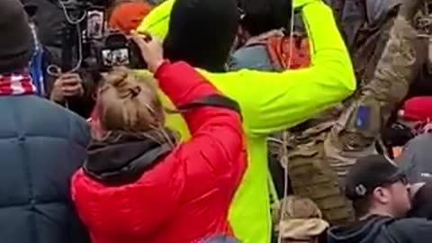 Trump Supporters Point Out and Shout Down Antifa Operative