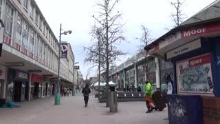 Sheffield city centre lockdown part 3 Saturday