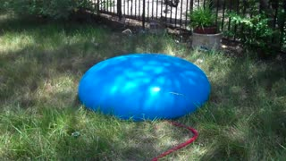playing with a giant water balloon....