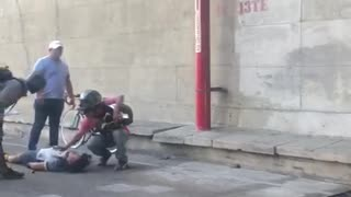 Ciclista herido