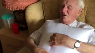 Nurse Gives Elderly Man A Sweet Surprise