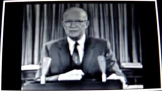 US President Eisenhower warns about the military industrial complex.