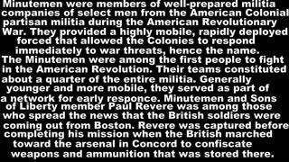 Minutemen Of The Revolutionary War