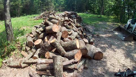 Piling up the wood!!