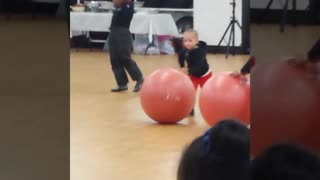 when babies play sports anything can happen