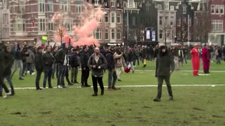 Police use water cannon on anti-lockdown protest