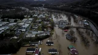 Drone footage captures devastation of Virginia floods