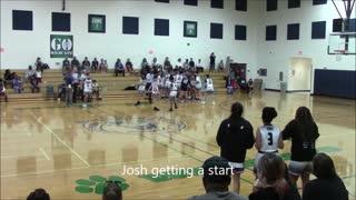 Josh first 8th grade basketball game