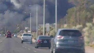 Fire downtown Phoenix