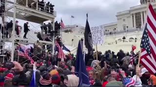 Capitol Police Throw Flashbangs On Peaceful Crowd (January 6, 2021)