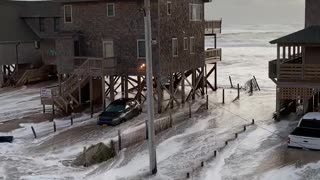 Storm Sends Tide Overland