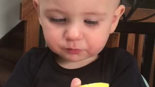 Precious Baby Boy Puckers After Lemon