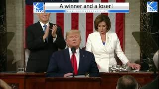 Vrijspraak Trump. Pelosi verscheurt SOTU