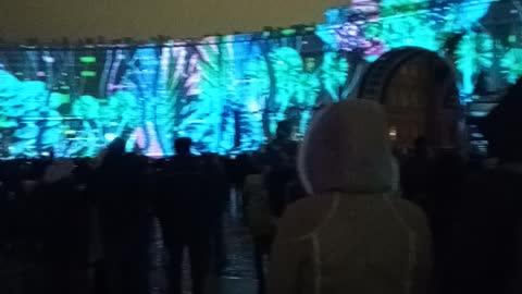 Light show in Saint Petersburg 2020