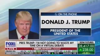 Maria Bartiromo and Donald Trump on Fox News