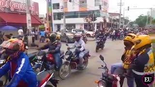Video: lunes de protestas en Cartagena