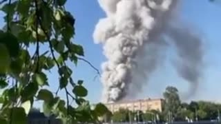 Explosion at a fireworks warehouse in Moscow !!!