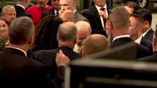VIDEO: Biden mingles with dozens of maskless people.