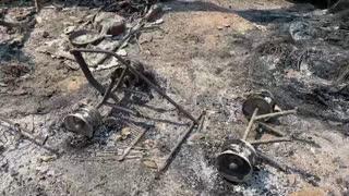 Fuertes incendios no dan tregua en Santa Cruz, California