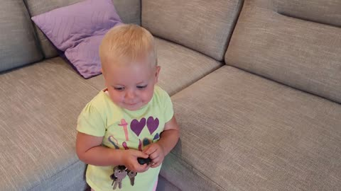 Baby Keeps Stealing Daddy's Keys and Running Away